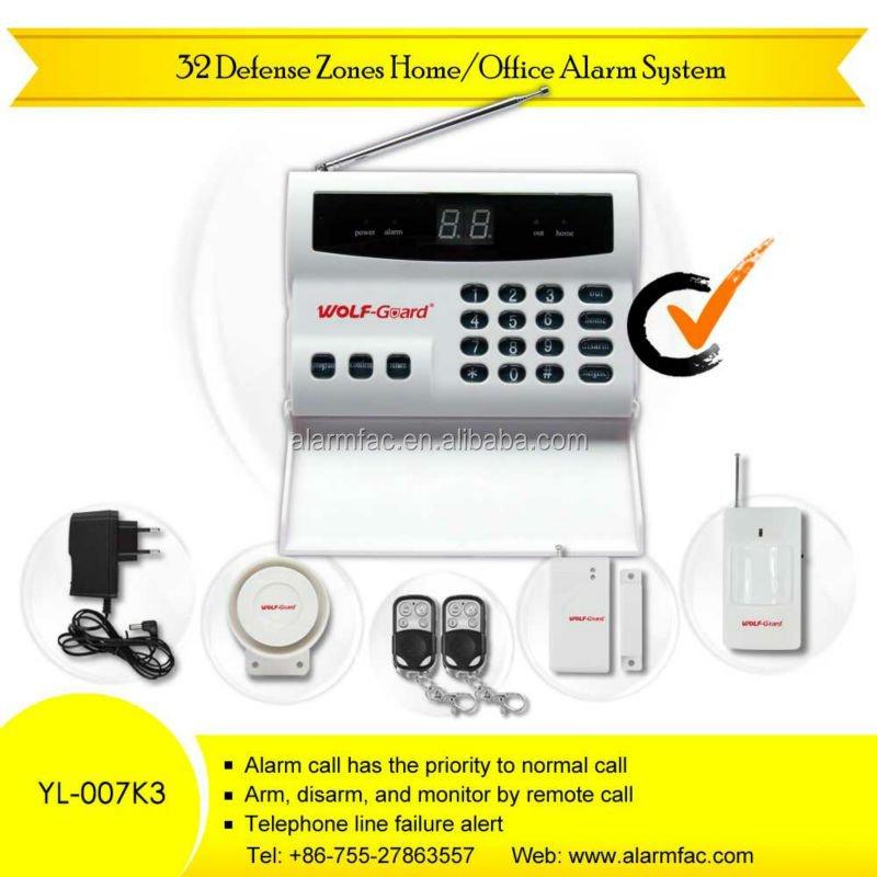 32 zonas de defensa inalámbrica automática - sistemas de alarma de marcación para la biblioteca / banco / financialoffice ( YL-007K3 )