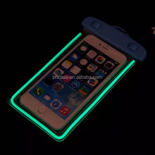 2015 hot new flurescent light pvc waterproof cell phone bag