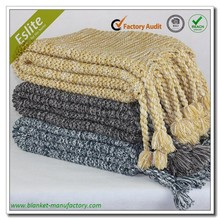 Tassel Fringe Best Price Chunky Knit Blankets And Throws