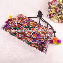 china tribal bordado étnicas borlas de bolsas para las niñas