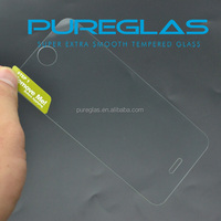 Wholesale mobile phone parts tempered glass lcd screen protectors for iphone 5 with pureglas package