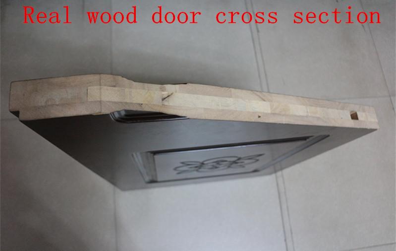 Solid core wooden flat exterior door with carving buy for Solid core exterior door