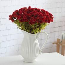 40 bouquet/lot 42cm 54 heads High grade silk artificial flowers rose leaf Euro Wedding Home decorative artificial flores A055