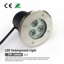 3*1/3*3W concrete/quarze stone recessed floor buried led underground light 12V