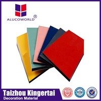Alucoworld colorful acrylic 60x60 gypsum ceiling tiles high glossy pe coated signboard acp aluminum composite panel