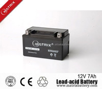 Lead acid 12v 7ah first power battery for motocycle