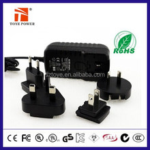 Free sample & Fast delivery!!! Portable charger EU UK US AU wall plug 12v 1.6a adapter