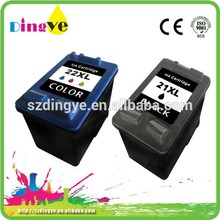 remanufactured ink cartridge for HP 21 22 printer ink cartridges C9351AN C9352AN environmental-friendly ink