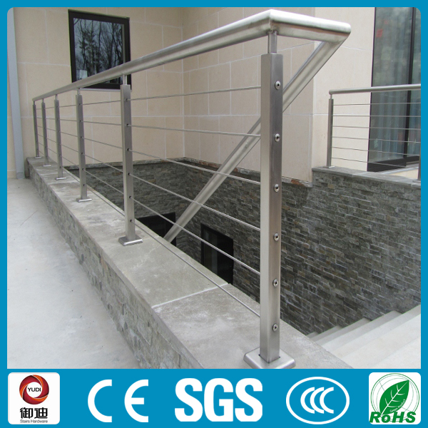 Deck And Balcony Stainless Steel Cable Railing Handrails Design