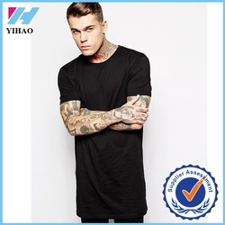 Yihao 2015 NWE FASHION NEW DESIGN ARRIVAL LONGLINE T-SHIRT SHORT SLEEVE MEN T SHIRT TALL WHOLESALE T-SHIRT