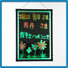 2015 Hot Selling ZD Write Board with Mark Pen CE/ROHS/FCC Shop Sign Board 90 Flashing Modes Drawing Board Aluminum Alloy Frame
