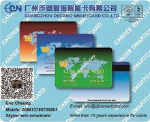 Contact IC SLE5542 card with magnetic strip