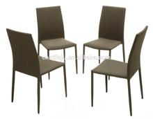 modern look dark beige fabric dining chair set of 4