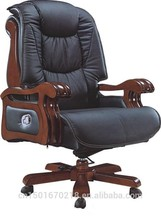 2015 de alta calidad de madera giratorio silla de oficina 8012A