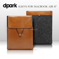 "Premium quality genuine leather sleeve case cover laptop bags for MacBook Air 11"" laptop bags factory"