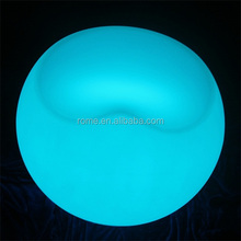 new model design Glowing Rechargeable LED plastic Sofa