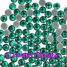 2MM emerald hot fix diamond shaped rhinestone flat back, iron on crystal