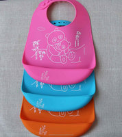 High Quality Silicone Baby Bibs with Print