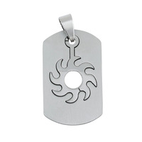 316L Stainless Steel Engraved Sunshine Tag Pendant Jewelry