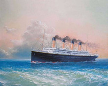 Dafen Oil Painting Village Factory Wholesale Lowest Price Handmade High Quality Steamer Oil Painting Abstract Steamship Photo
