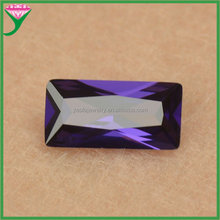 in stock Amethyst special labradorite cut stone 4*8 rectangle cubic zirconia