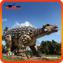 Dinosaurios réplica anquilosaurio hecho en la empresa de dinosaurio