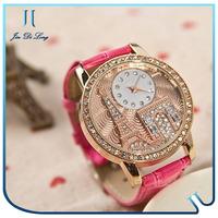 Hot selling wrist watch fashion geneva watches ladies wholesale