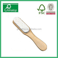 Wood Foot File Handle Pumice Stone Brush Foot Scrubber Exfoliator WJ030