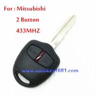 car key 2 button remote key control 433mhz with ID 46 chip for mitsublish oputlander