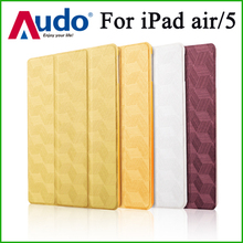 wholesale for ipad smart 3D Argyle Texture Leather cover for ipad case for ipad case with auto sleep wake
