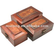 Antique wood boxes with lock