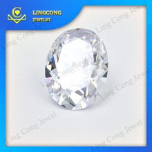 good quality white artificial gems loose cz oval