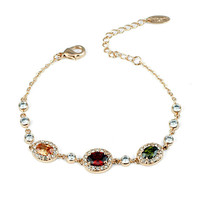 Top Zircon bracelet of charm bracelet With Colorful Beads hot new products for 2015