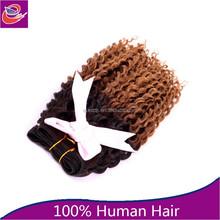 Model ombre Brazilian Jerry Curl Virgin Hair,Afro Curl Weave 18'-34' Unprocessed Brazilian Virgin Afro Jerry Curl ,Human Hair