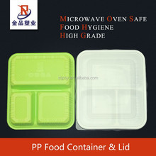 Microvable & Recyclable food grade plastic container with lid