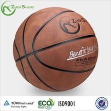 Zhensheng sport match oem leather basketball