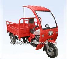 vehículo de tres ruedas con carreta