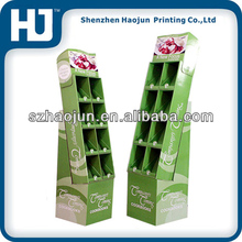 Green Counter cardboard display stand for master dog food in the supermarket