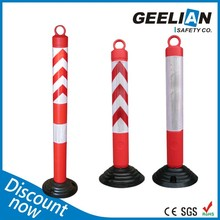 Factory Wholesale Plastic Round Extensible Warning Bollards And Barriers