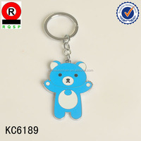 Bule cute bear custom promotion keychain Renqing wholesale