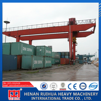 2015Hot sale rail type container gantry crane for sale
