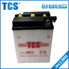 High performance dry charged 6v lead acid battery