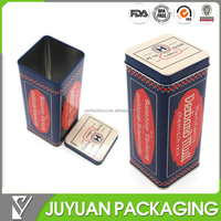 High quality PMS colored cube tall square tin box
