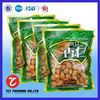 Plastic custom printed stand up resealable dried food bag with transparent window