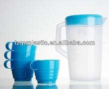 2L Plastic pitcher set with 4 cups