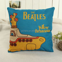 2015 Fashion Colorful Classic Band Linen Pillow Case Car Sofa Throw Back Cushion Cover Room Home Decoration
