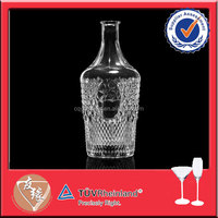 2 liter large engraving glass empty wine bottle crafts
