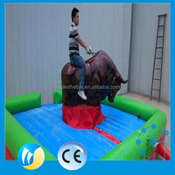 Amazing boy/girl inflatable bull ride bullfight