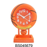 Decorative Swing Basketball Table Clock For Home Decor