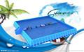 Natación de verano rectangular de PVC exterior por encima del suelo marco de metal piscinas